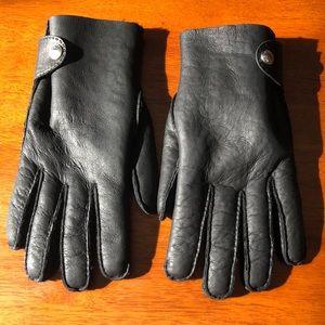 HERMES Men's Lambskin Leather Gloves